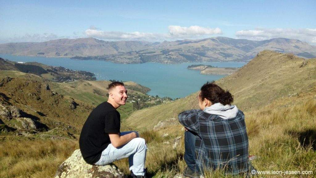 Thoma and me watching the beautiful nature of New Zealand.